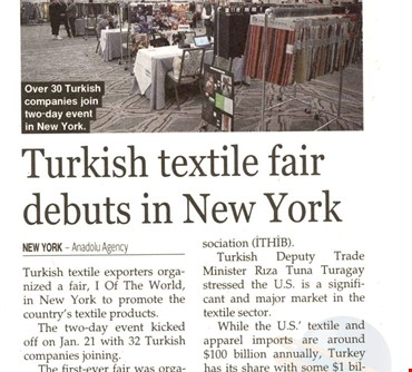 Turkish Textile Fair Debuts In New York